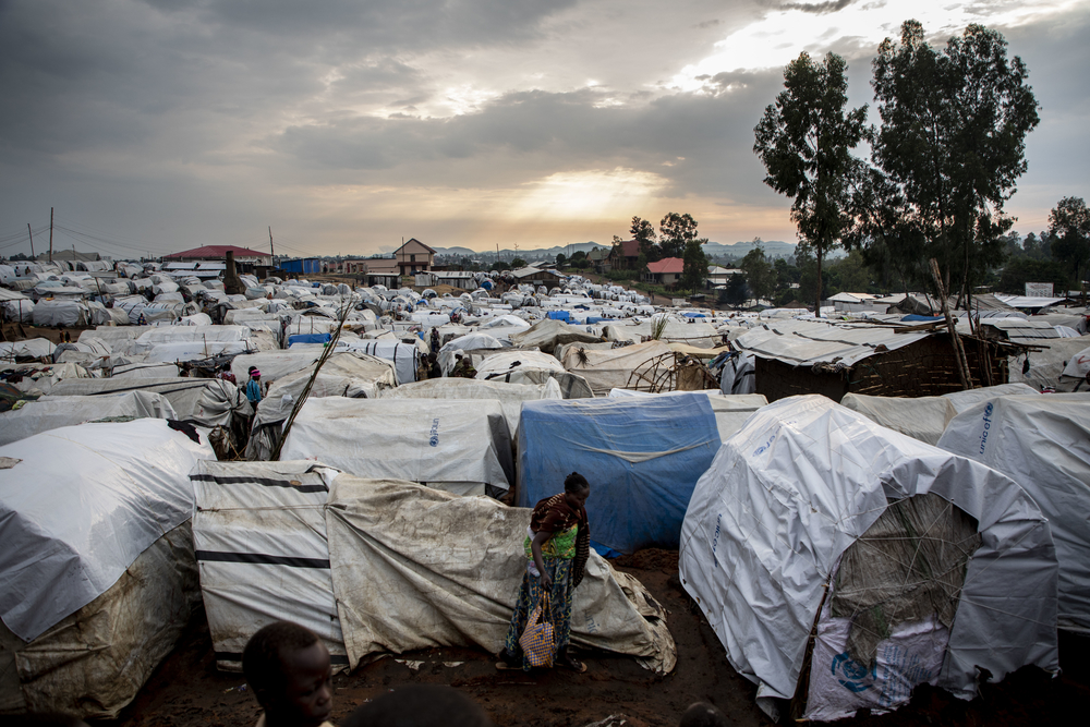 The IDP camp for internally displaced people in Bunia, DRC. Thousands have fled their homes due to intercommunal violence in Ituri. [ ©Pablo Garrigos/MSF ]