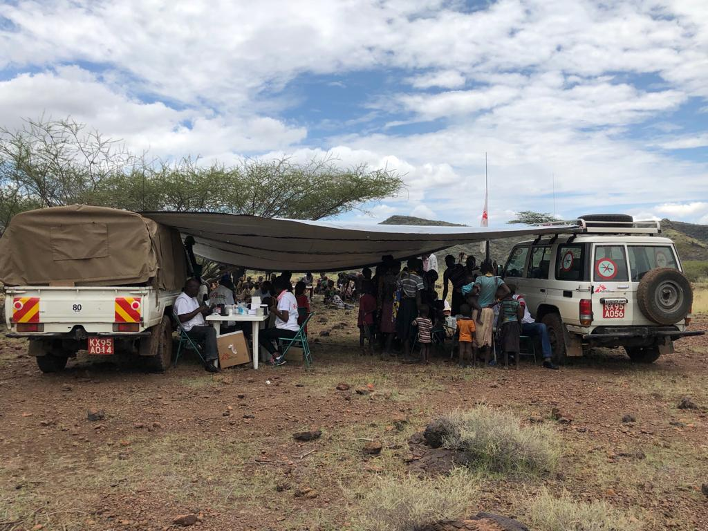 MSF emergency team during the malaria intervention in Baringo county [ © Vincent Ndichu / MSF ]