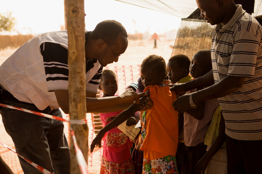 Measles vaccination campaign in Yida refugees camp[Photo: Karin Ekholm/MSF]
