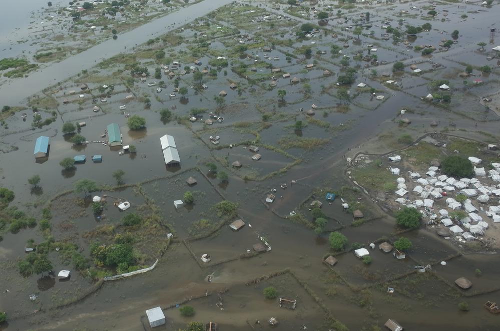 Flooded areas around Pibor. [Photo: Léo Martine/MSF]