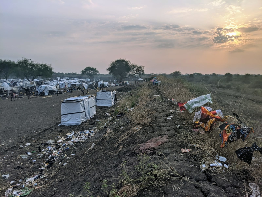 A view of the PoC site in Pibor © MSF