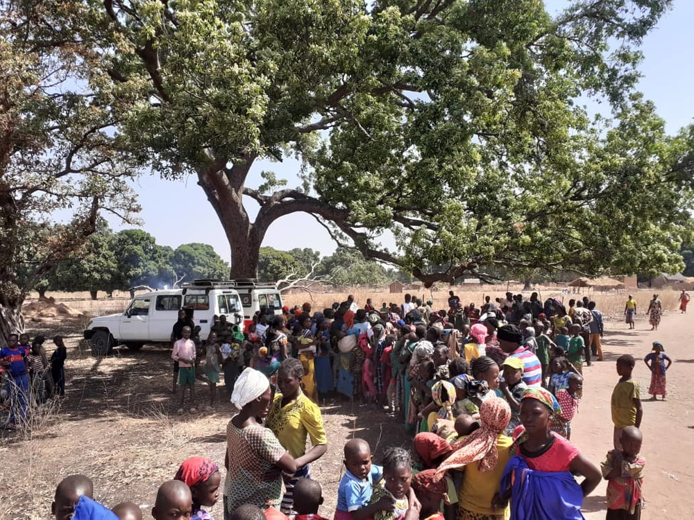 emergency response team carries out vaccinations for children in Beboto, in February 2020,