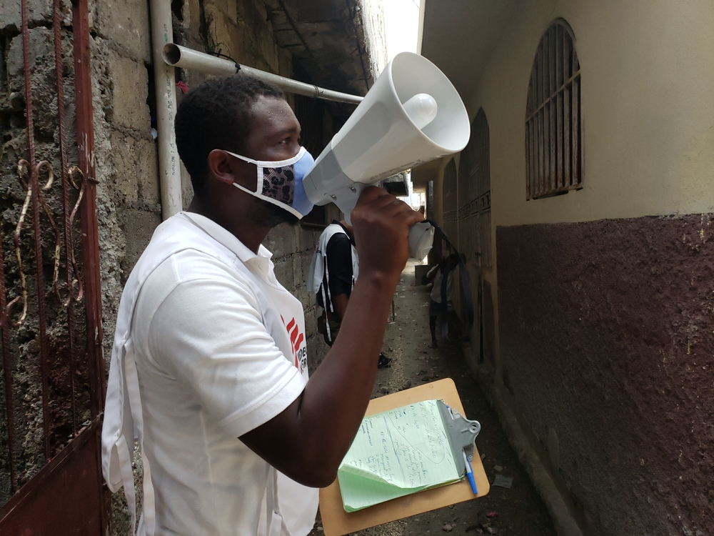 A health promoter in Martissant , Port-Au-Prince, Haiti © MSF/Lunos Saint-Brave