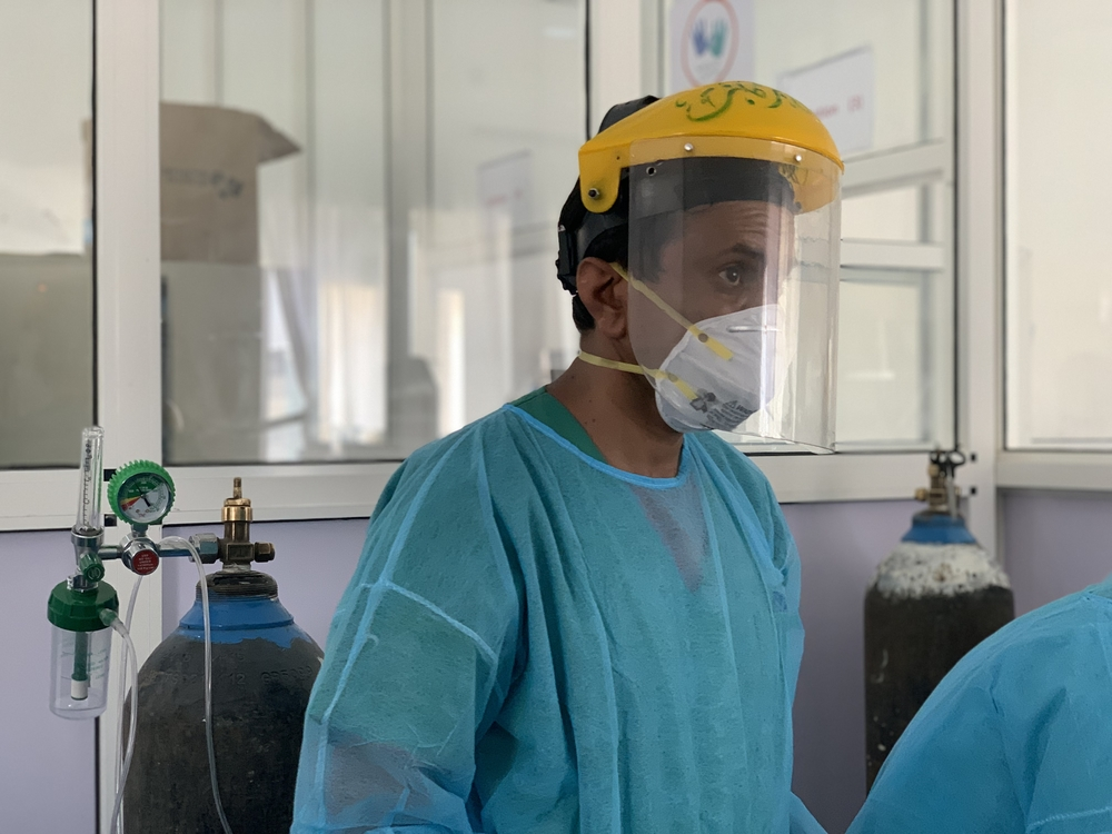 Dr. Abdulrahman, MSF doctor working in the Sheikh Zayed COVID-19