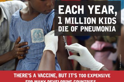 $262 million subsidy should not go to pharma giants Pfizer and GSK for pneumococcal vaccine [Photo: MSF]