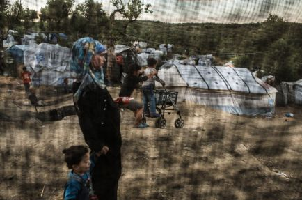 Refugees trapped in Moria camp on Lesbos Island. The awful conditions at Moria camp/Olive Grove and arbitrary administrative situations have had a dramatic impact on their health and in particular their mental health. [ © Robin Hammond/Witness Change ]