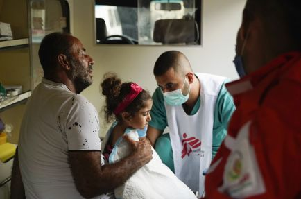 Wound and burn care medical point © Mohamad Cheblak/MSF