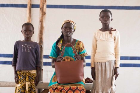 Elisabeth and her daughters Adelphine and Rachel [ © Arjun Claire/MSF]