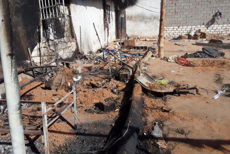 Asylum seeker dies in detention centre fire
