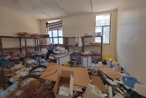 Sebeya health centre, in east Tigray, after being looted.