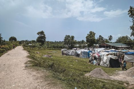 The Croix des Martyrs IDP camp is home to hundreds of families.