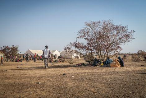Outside view of the Barsalogho IDP camp, January 2019 ©MSF/Caroline Frechard
