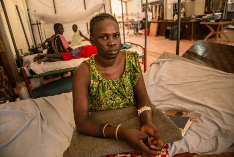 Martha, a pseudonym, is a 27-year-old woman living in the Malakal Protection of Civilian (PoC) site, in north-east South Sudan [ © MSF / Igor Barbero ]