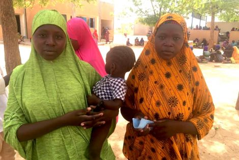 Mariam and Haoua fled from Zamia and Hilli, two villages in Nigeria. They arrived in Bassira, in Niger three days ago with their husbands and children. Their villages have not yet been attacked but they feared they will be next and chose to run away in se