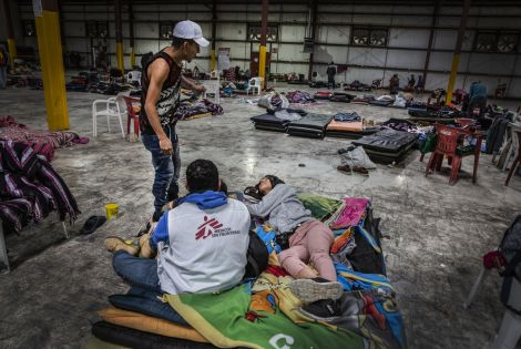 MSF provides medical, mental health and social services support to migrants and refugees in various shelters in Nuevo Laredo, Reynosa and Matamoros. [ © Juan Carlos Tomasi ]