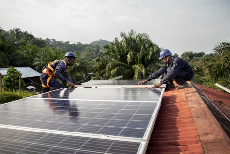 Solar panel system at the General Hospital of Kigulube in South Kivu [Photo: Pablo Garrigos/MSF]