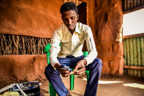 Mohamed Hussein Bule is a school teacher and refugee living with diabetes in Dadaab camp