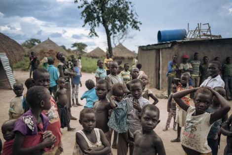 Young South Sudanese refugees pose for a photograph in Biringi, Ituri Province, northeastern Democratic Republic of Congo [PHOTO: ALEXIS HUGUET/MSF]