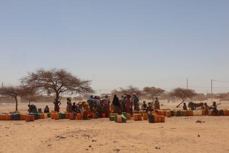 Water distribution site in Djibo, Burkina Faso
