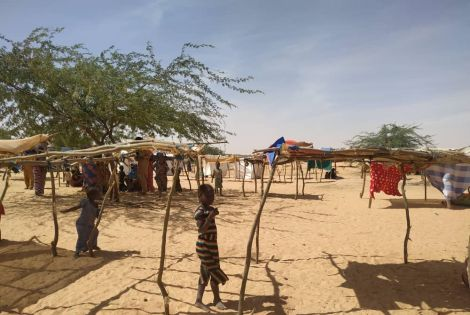 Refugee population in Andeamboukane, Mali