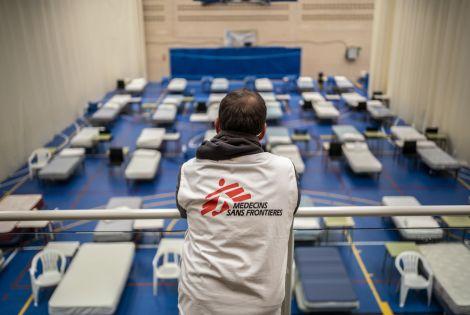Hospital installation by MSF in Leganes, Spain © Olmo Calvo /MSF