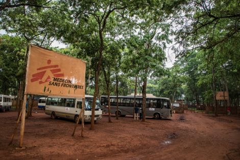 Entrance of MSF hospital in Nduta refugee camp