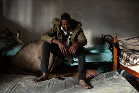 Hassan, a 17-year-old refugee from Darfur, Sudan arrived in Libya one year ago.