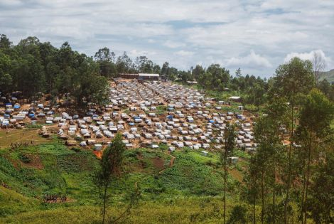 Internally displaced people's camp in the territory of Djugu in Ituri, DRC