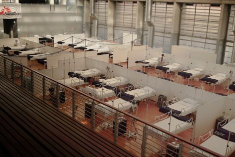 COVID-19 field hospital set up in Khayelitsha Multi-purpose Centre [© MSF/Rowan Pybus]