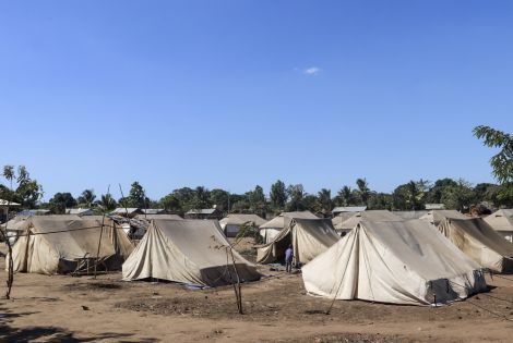 Internally Displaced Persons (IDP) camp in Metuge, Mozambique.