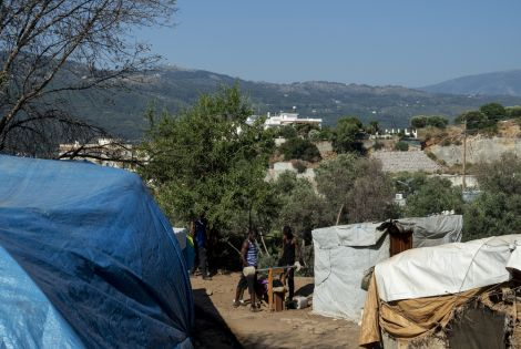 there are around 4,500 people trapped in Vathy today – a camp that has the capacity of 650