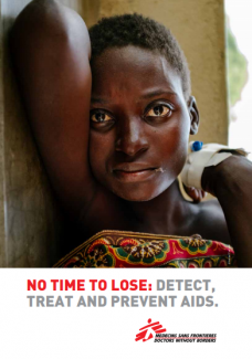 "Cover of "" No time to lose: Detect, Treat and Prevent AIDS"""